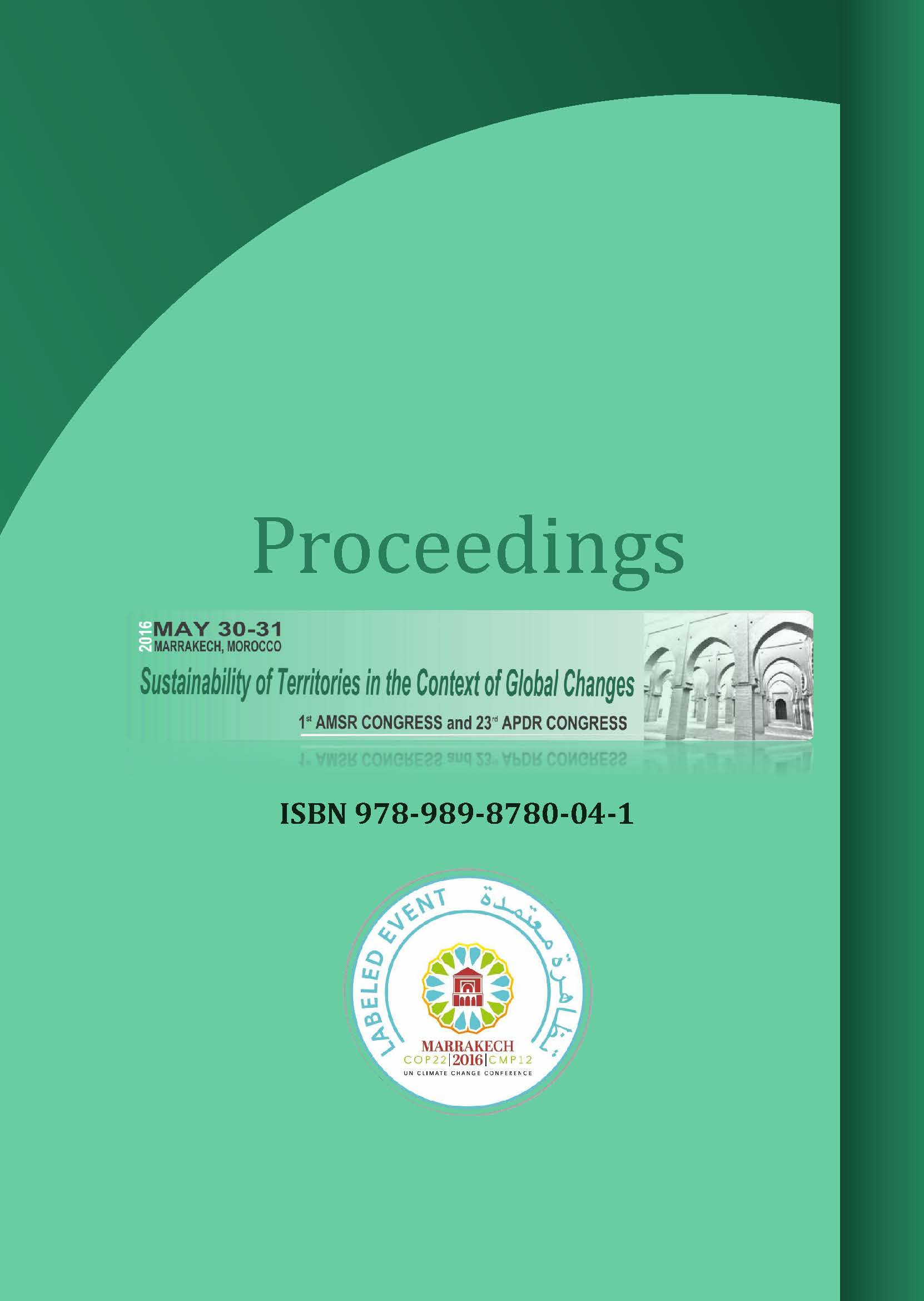 Proceedings | 1st AMSR Congress and 23rd APDR Congress, 30-31 May 2016, Marrakech